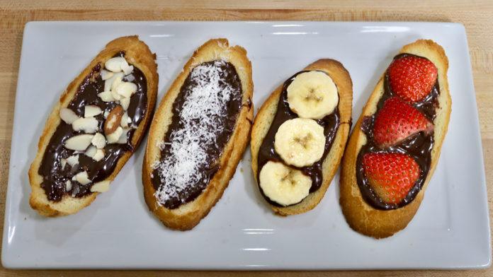 Chocolate Ganache Toast - Manjula's Kitchen