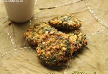 Keerai vadai recipe, paruppu spinach vadai